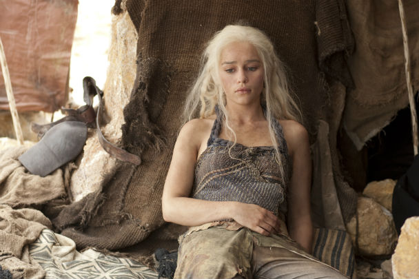 Emilia Clarke as Daenerys in Season 2 of Game of Thrones