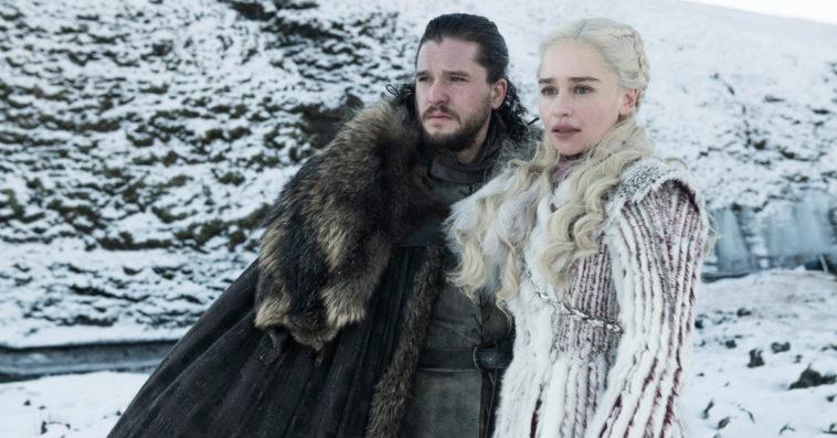 Kit Harington as Jon and Emilia Clarke as Daenerys in Game of Thrones Season 8