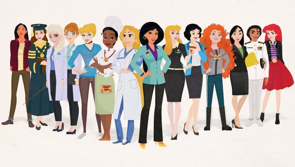 group shot og 758x430 - Disney Princesses as modern day career women