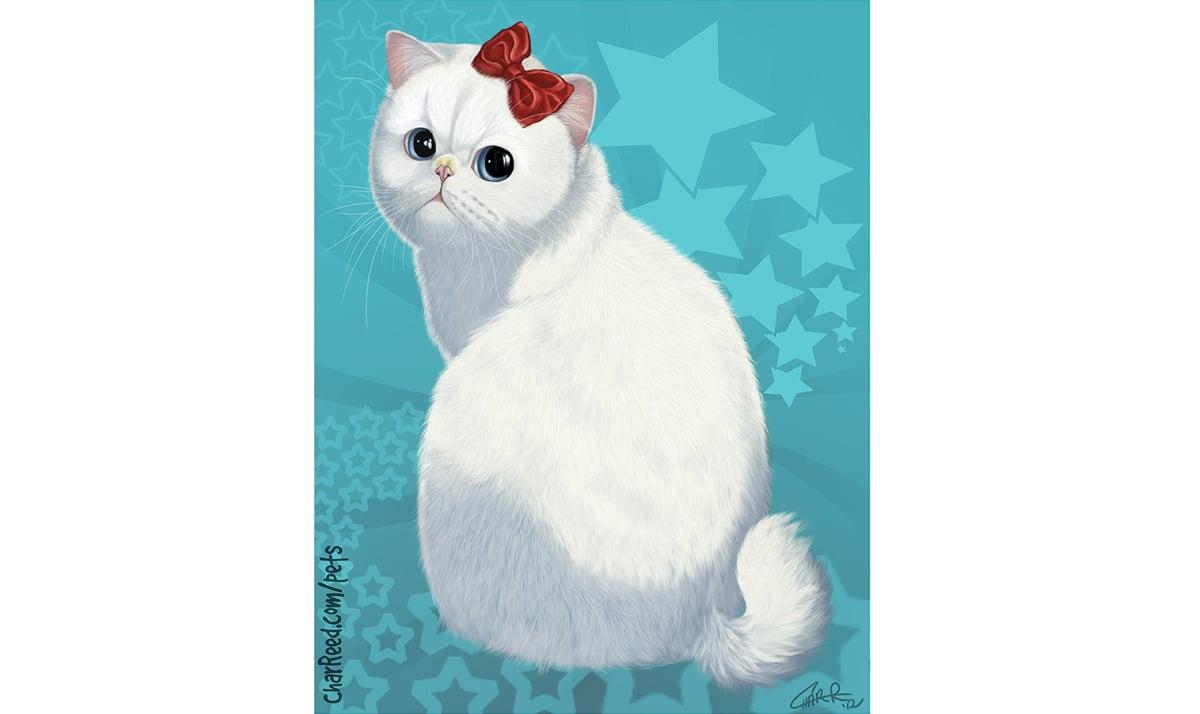Hello Kitty as a chubby cat