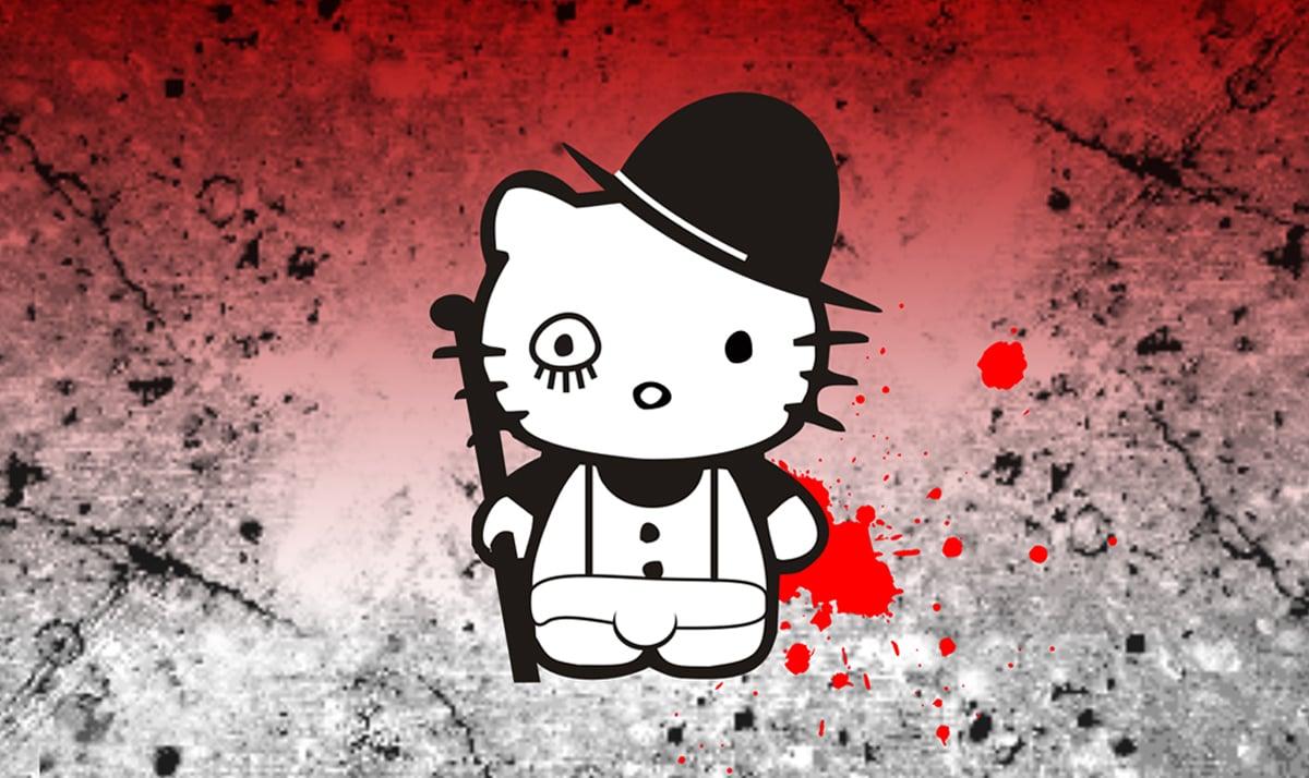Hello Kitty as Alex from the film A Clockwork Orange