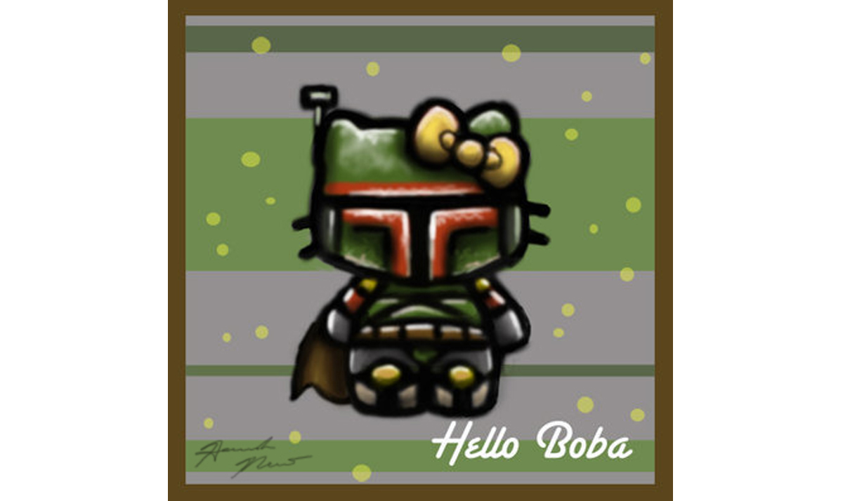 Hello Kitty as Boba Fett from Star Wars