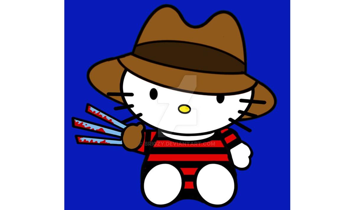 Hello Kitty as Freddy Krueger