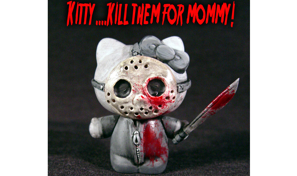 Hello Kitty as Jason from Friday the 13th