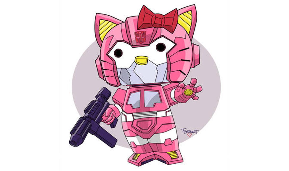 Hello Kitty as Optimus Prime