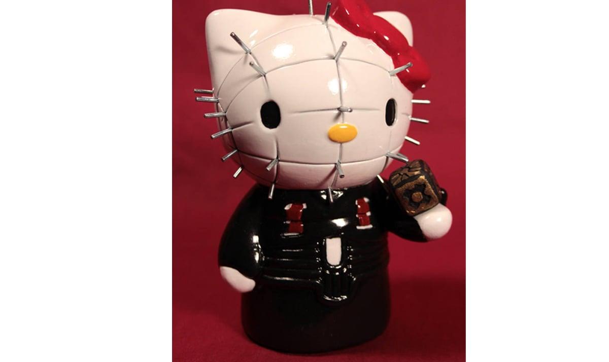 Hello Kitty as Pinhead from the Hellraiser series
