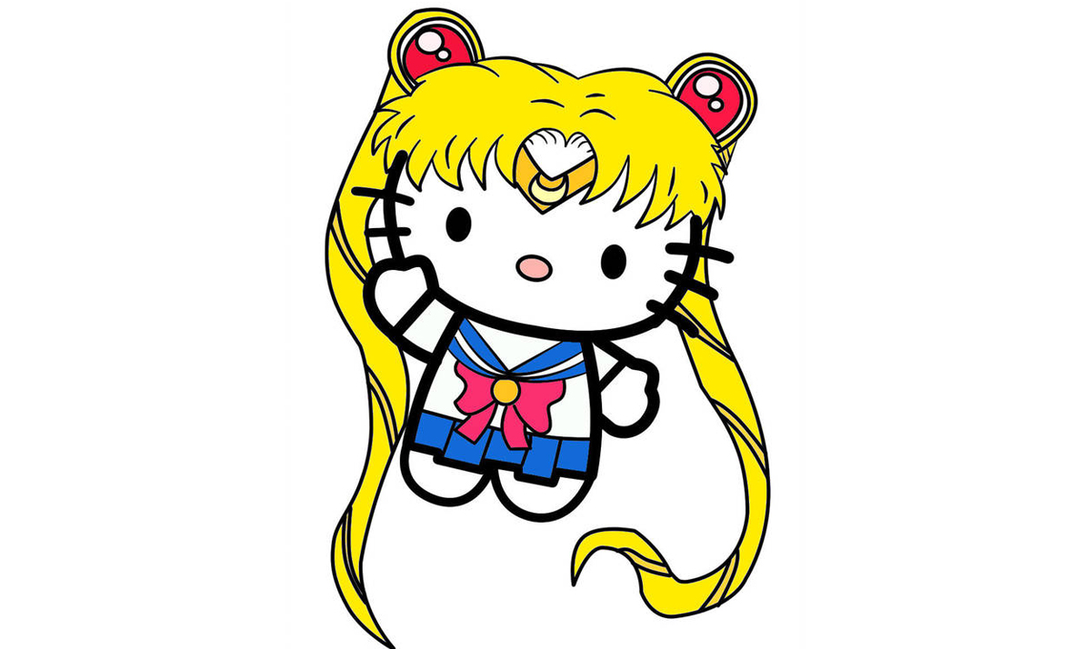 Hello Kitty as Sailor Moon