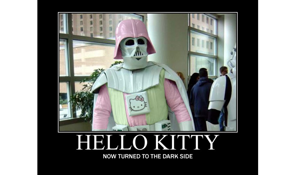 Hello Kitty-themed Darth Vader costume