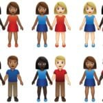 interracial emoji 150x150 - 71 interracial couple emojis have been given the green-light