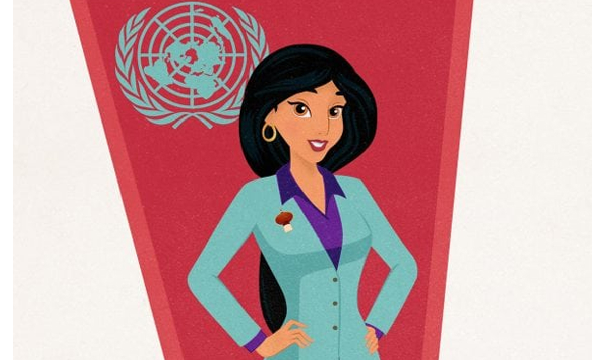 jasmine as a united nation ambassador - Disney Princesses as modern day career women