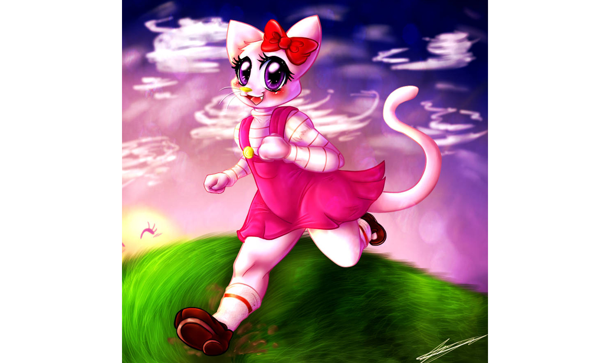 Jolly human Hello Kitty