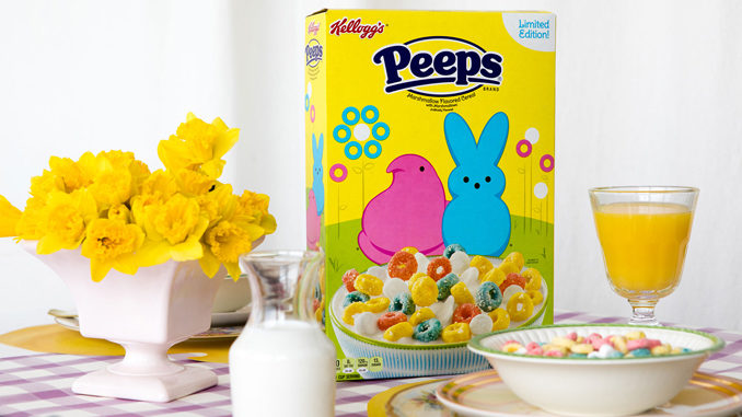 Kellogg's PEEPS® Marshmallow Flavored Cereal with Marshmallows