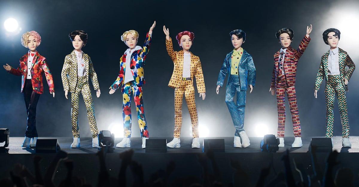Mattel x BTS fashion dolls