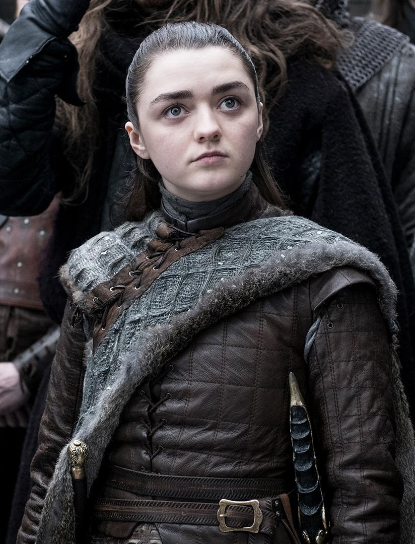 Maisie Williams as Arya in Game of Thrones Season 8