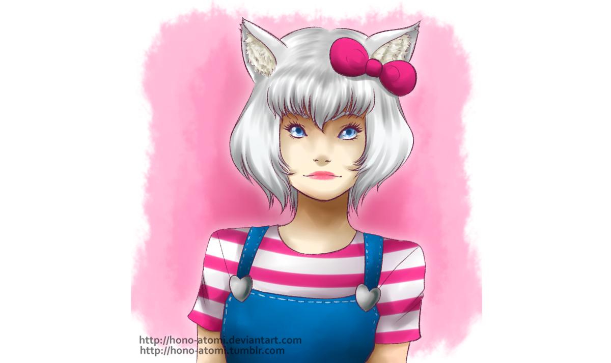Pretty human Hello Kitty