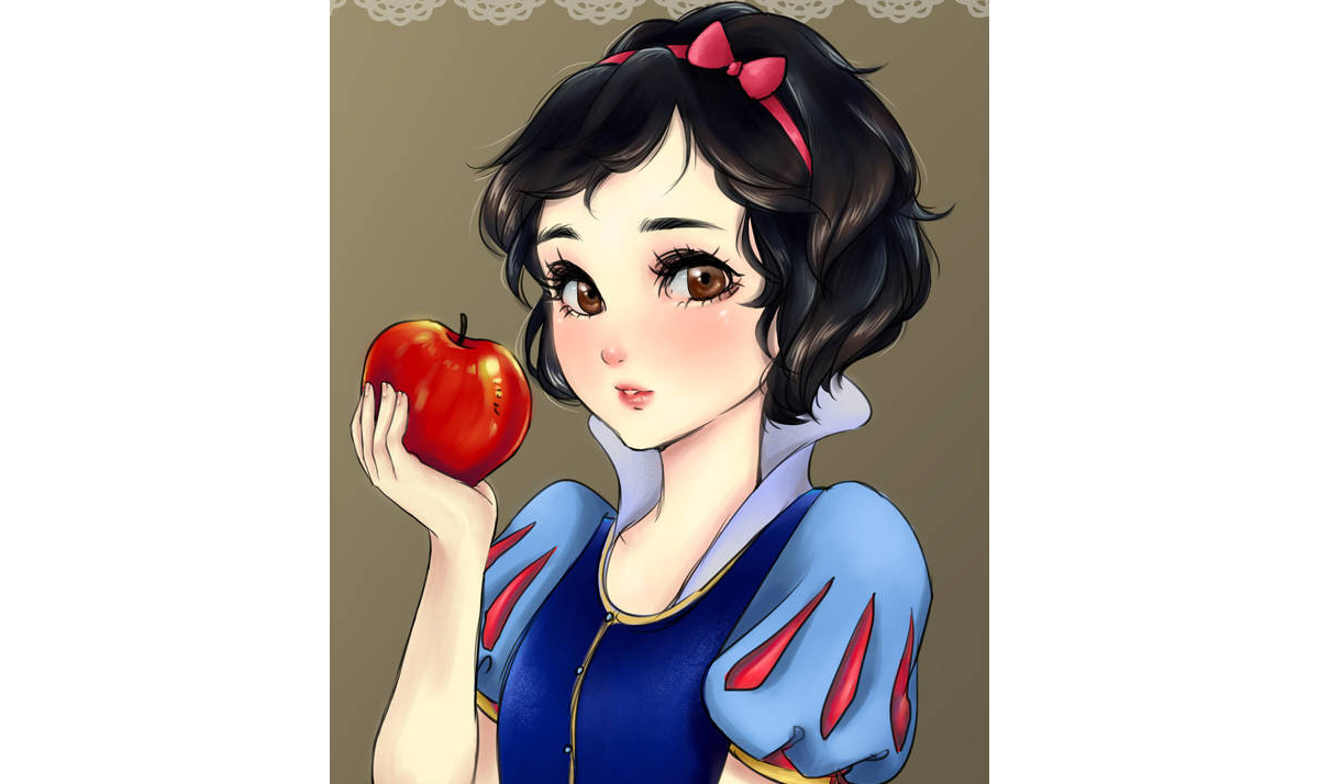 Disney Princesses drawn in manga style 13