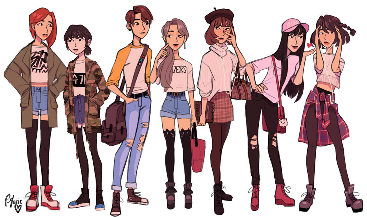 the bts boys reimagined as girls - The BTS boys like you've never seen them before