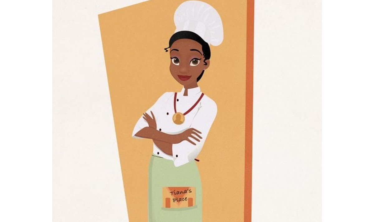 tiana as a chef and restaurateur - Disney Princesses as modern day career women
