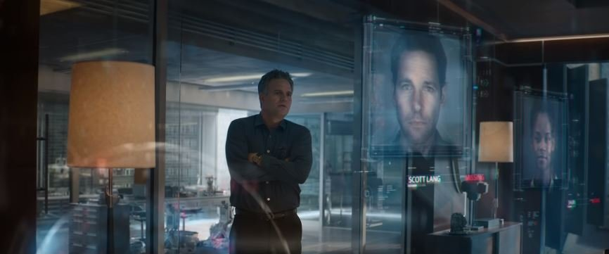 A scene from the first trailer for Avengers: Endgame