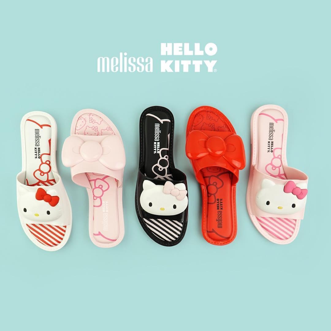Hello Kitty x Melissa Slide Sandal and Bow Slide Sandal