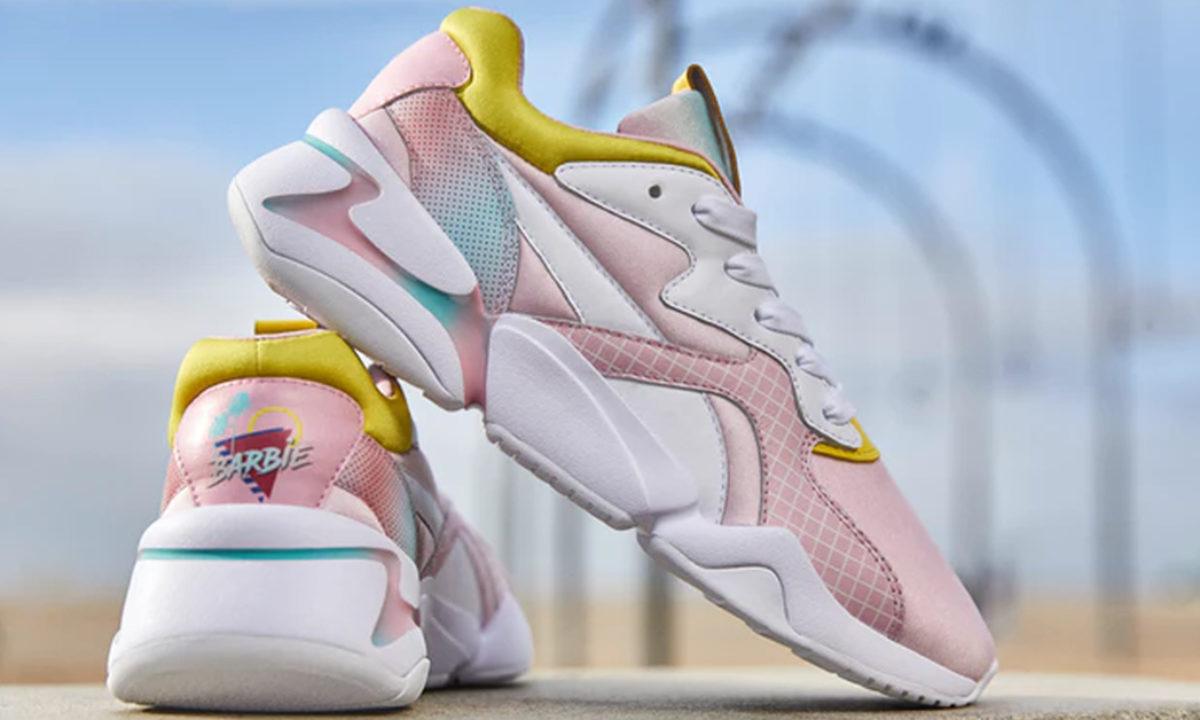 flashy Puma x Barbie Nova sneakers