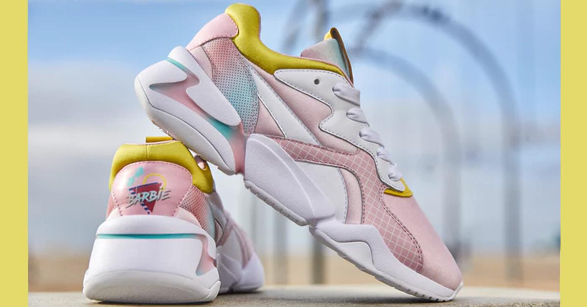 barbie puma 758x397 - These flashy Puma x Barbie Nova sneakers will spice up your style with '90s sass