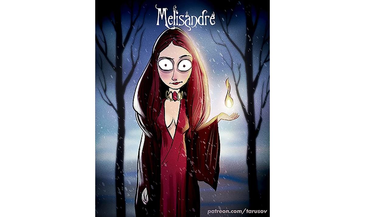 burtonesque melisandre - Game of Thrones characters gone wild