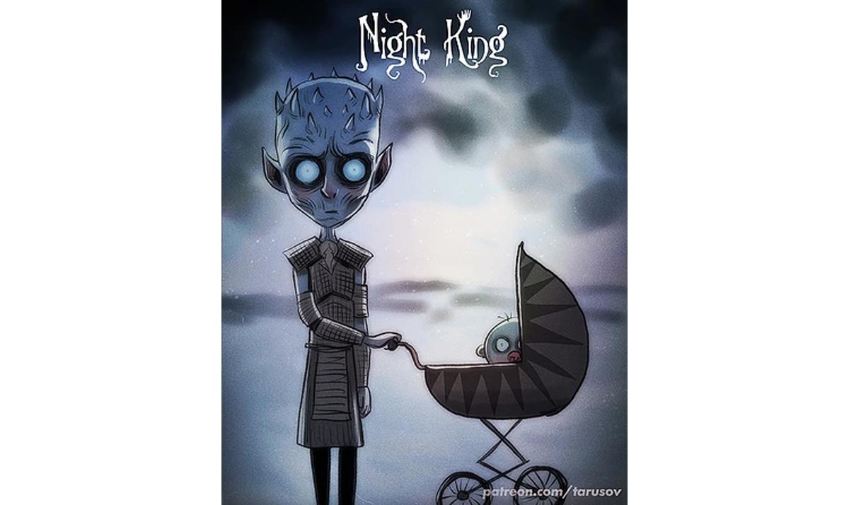 burtonesque night king - Game of Thrones characters gone wild