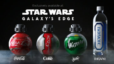 Galaxy's Edge Coke products