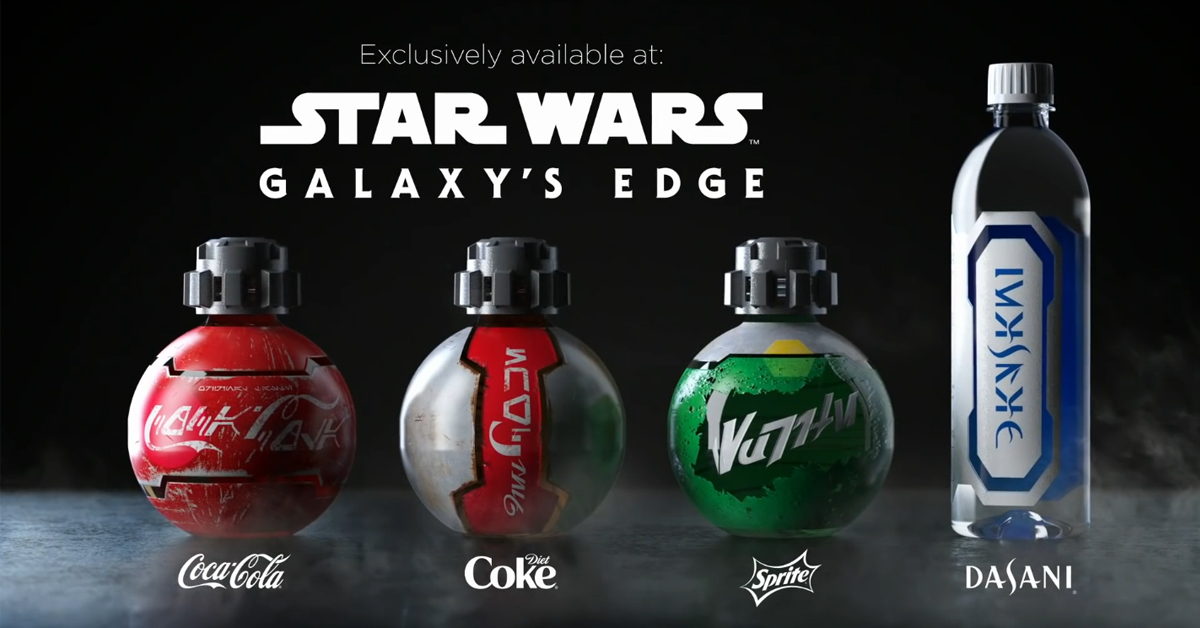 Galaxy's Edge Coke products