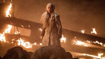 Emilia Clarke as Daenerys Targaryen in Game of Thrones' The Long Night episode