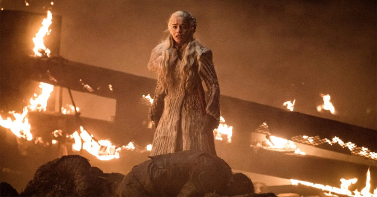 Emilia Clarke as Daenerys Targaryen in Game of Thrones' The Long Night episode
