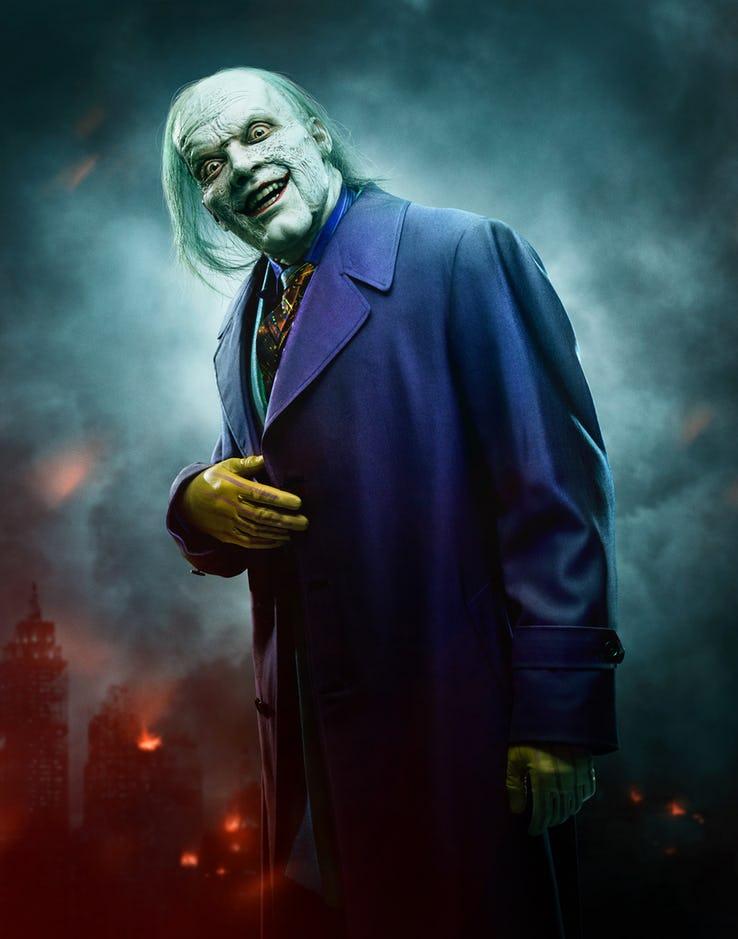 Cameron Monaghan in full Joker makeup and costume
