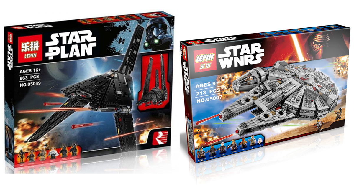 Lepin's Lego-like building sets