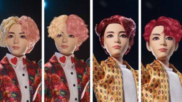 BTS x Mattel dolls fan edits