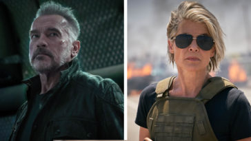 Arnold Schwarzenegger and Linda Hamilton in Terminator: Dark Fate