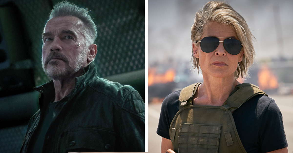 Arnold Schwarzenegger and Linda Hamilton in Terminator: Dark Fate
