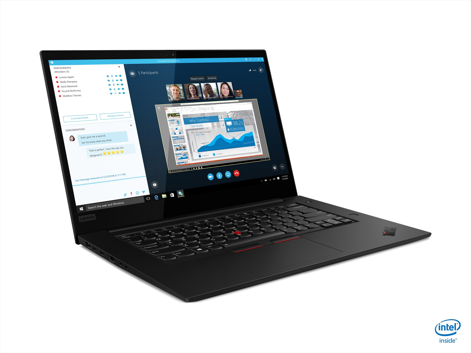 05 tp x1 extreme p2 touch hero front facing right 1024x768 - Lenovo's ThinkPad X1 Extreme Gen 2 takes the popular laptop to the next level