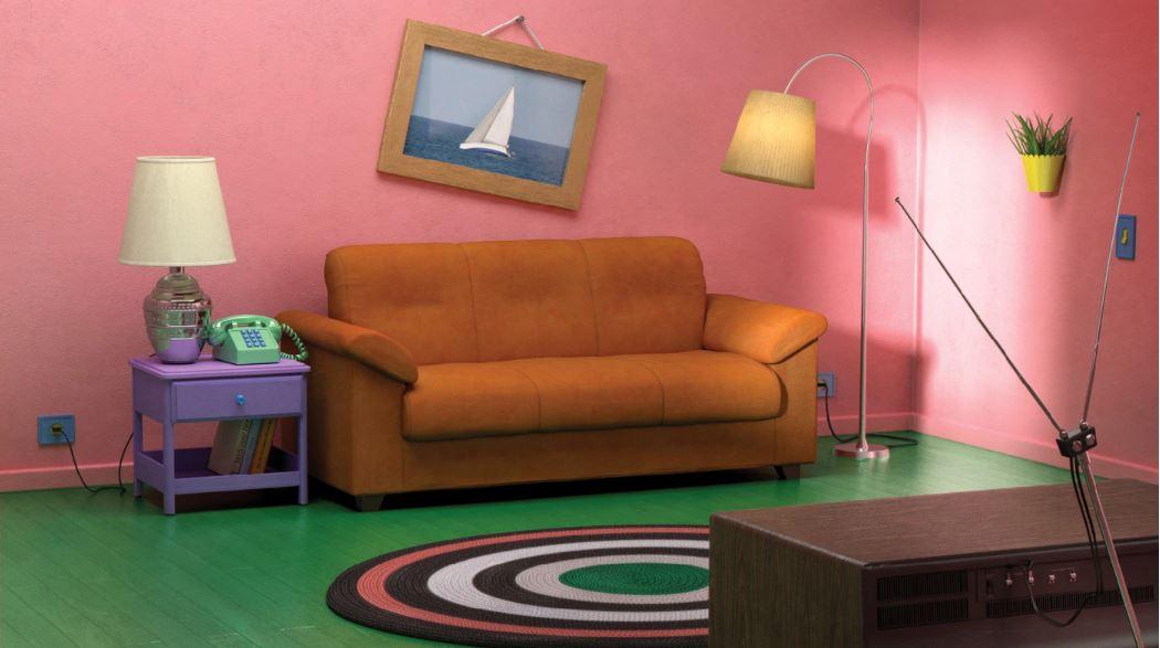 The Simpson's TV room