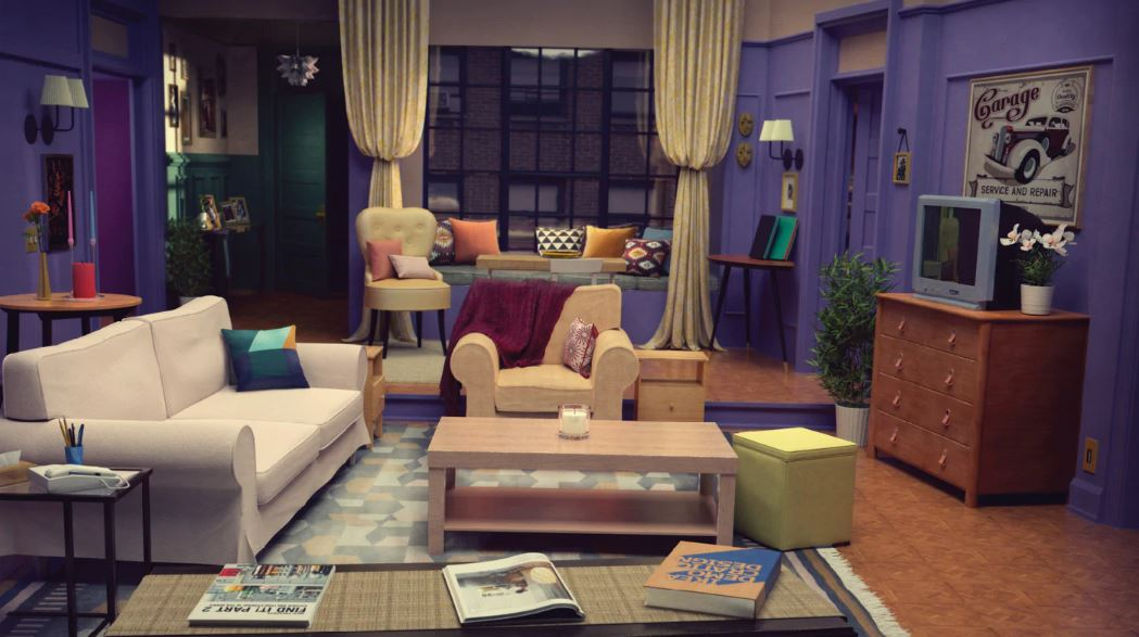 Lounge of Monica Geller's apartment from NBC's Friends