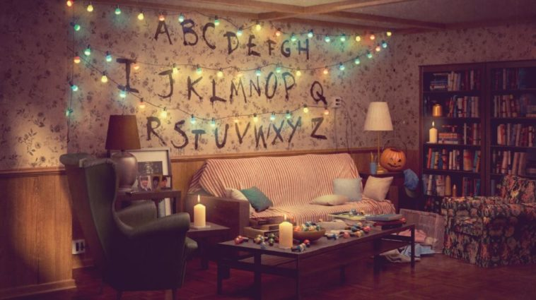 Byers family home's living room from Netflix's Stranger Things -featured image