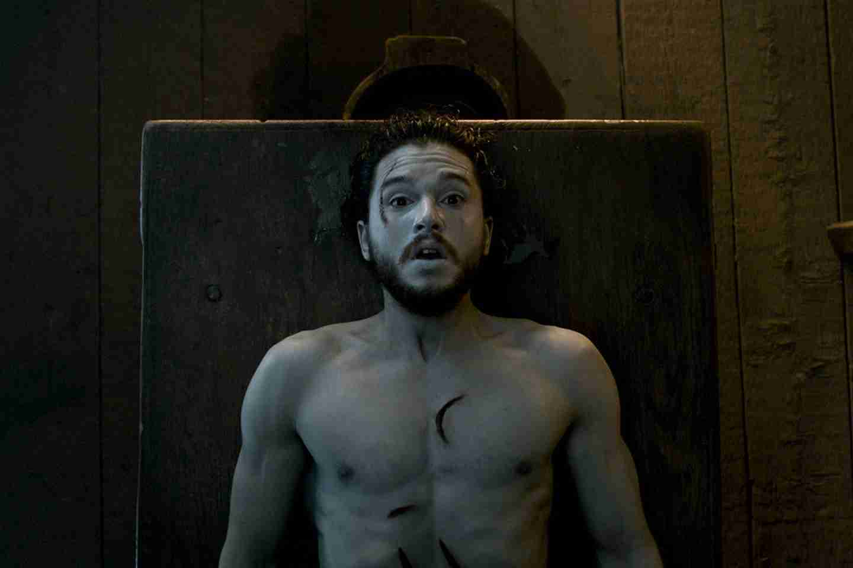 Kit Harington as Jon Snow in Game of Thrones Season 6 premiere