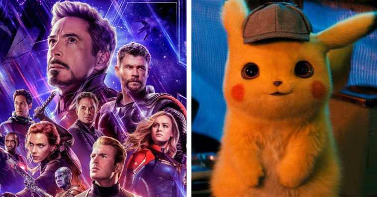 Avengers Endgame and Detective Pikachu