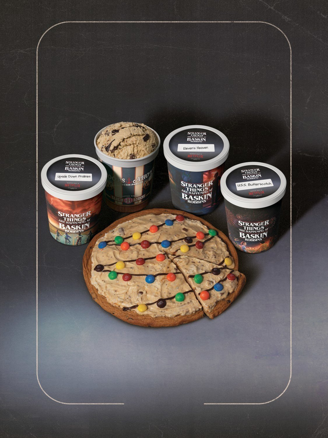 Byers' House Lights Polar Pizza Ice Cream Treat