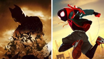 Batman Begins and Spider-Man Into the Spider-Verse