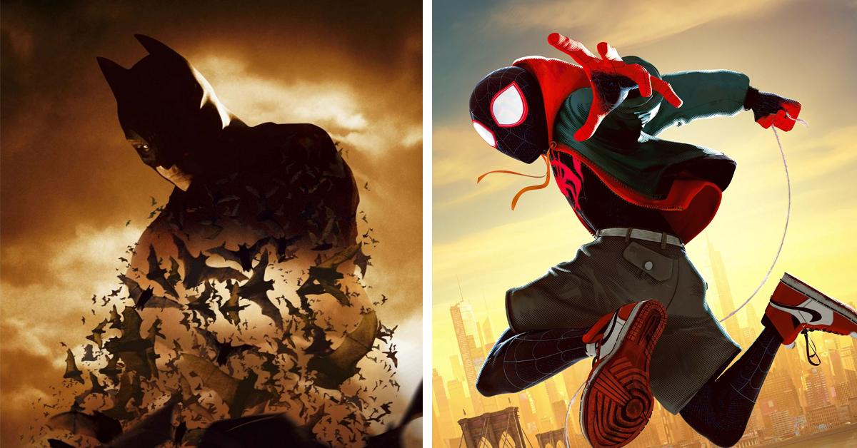 Batman Begins and Spider-Man Into the Spider-Verse