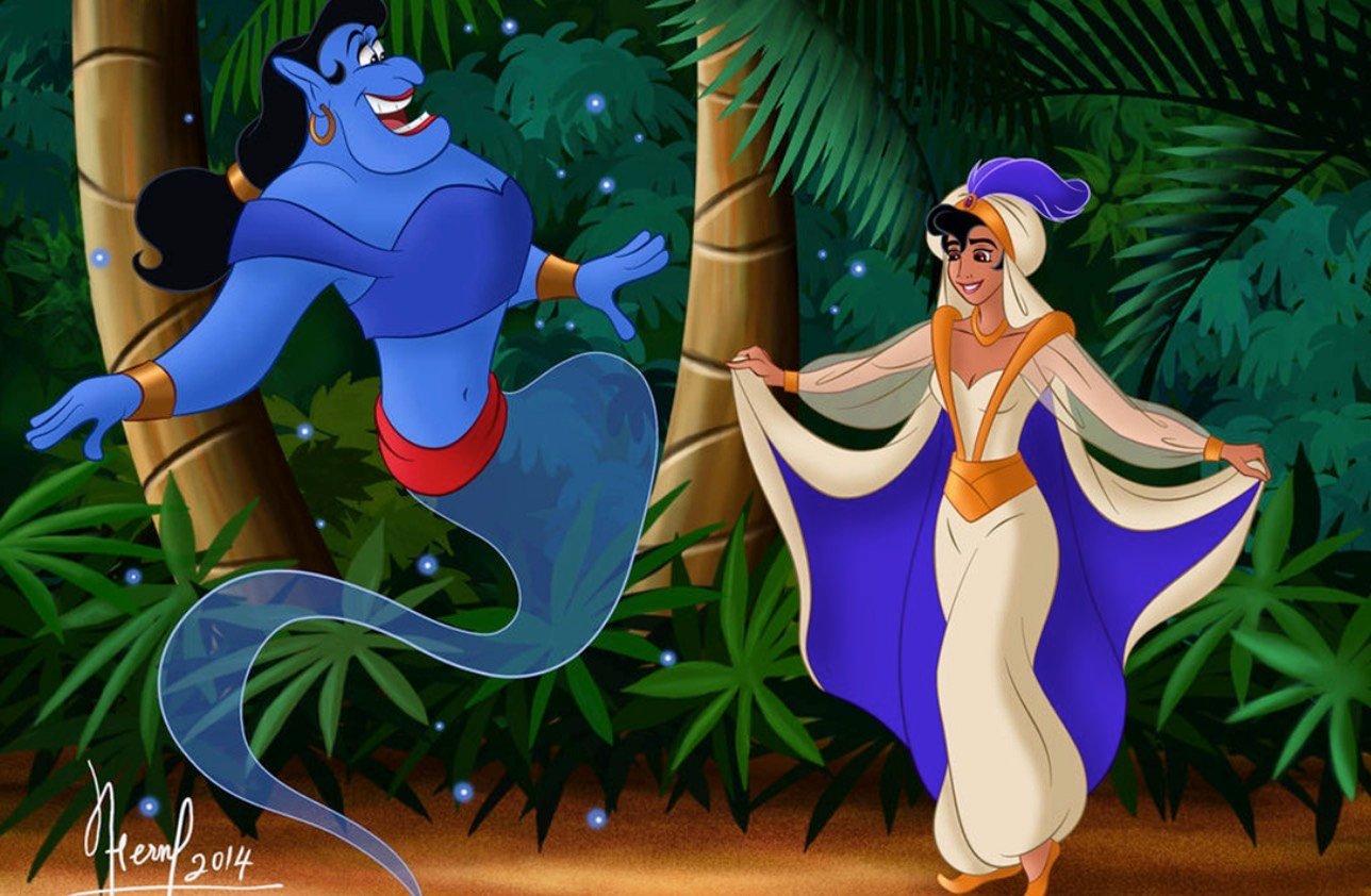 disney gender swap 758x496 - Disney characters reimagined as the opposite gender
