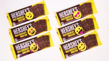 Hershey's milk chocolate bar is getting an emoji-inspired makeover 14