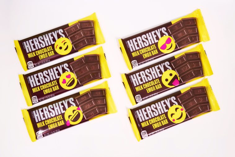 Hershey's milk chocolate bar is getting an emoji-inspired makeover 15