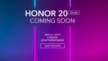 Honor 20 coming soon